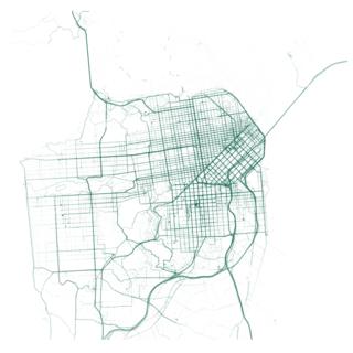 San Francisco motorized transportation map