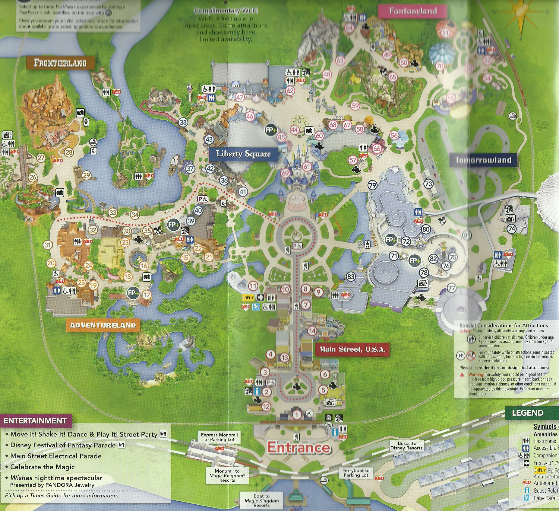 Figure 6. Disney World 45th anniversary map dated October 1, 2016