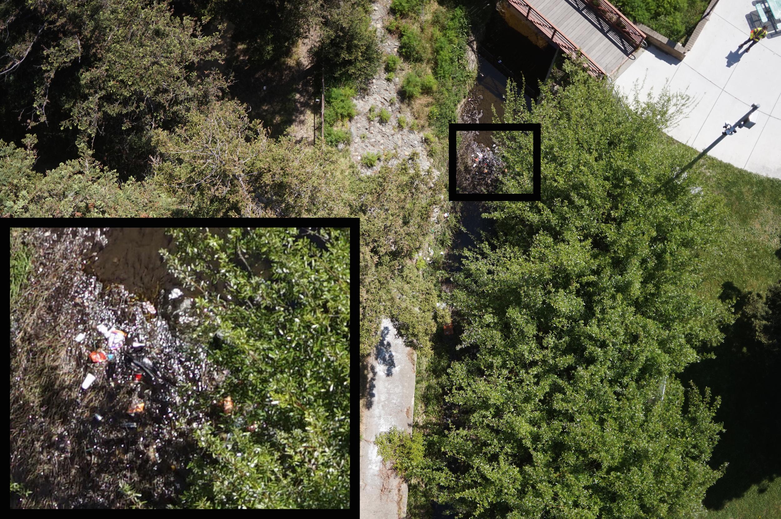 Figure 3. Trash near a bridge in Herbert Park in San Pablo, CA, May 1, 2018