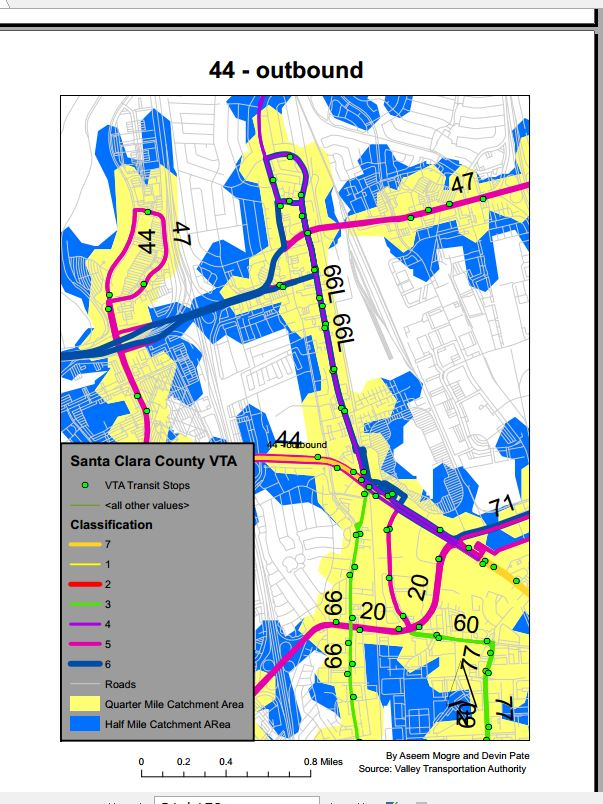Figure 2. Final Data Driven Page booklet snapshot of Route 44-outbound