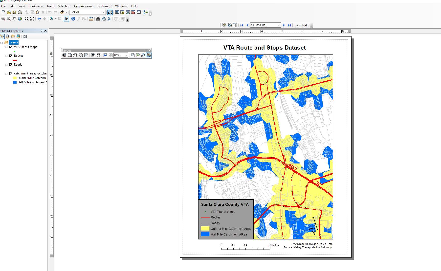 Figure 1. Data Driven Pages overall toolbar with map booklet in the making