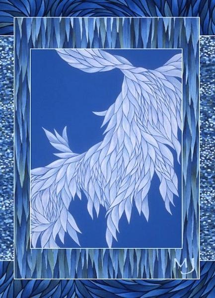 "Fallen Angel,  acrylic on canvas, 17"" x 11""  by Mary Jones Easley"