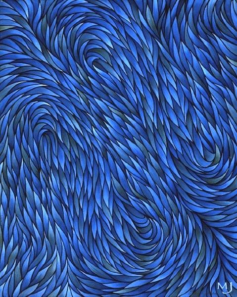 """Calmness , acrylic on canvas, 20"""" x 16""""  by Mary Jones Easley"""