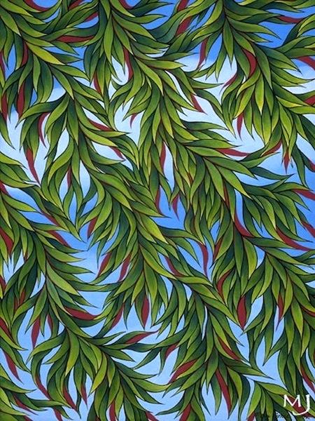 "Solitude , acrylic on canvas, 20"" x 16""  by Mary Jones Easley"