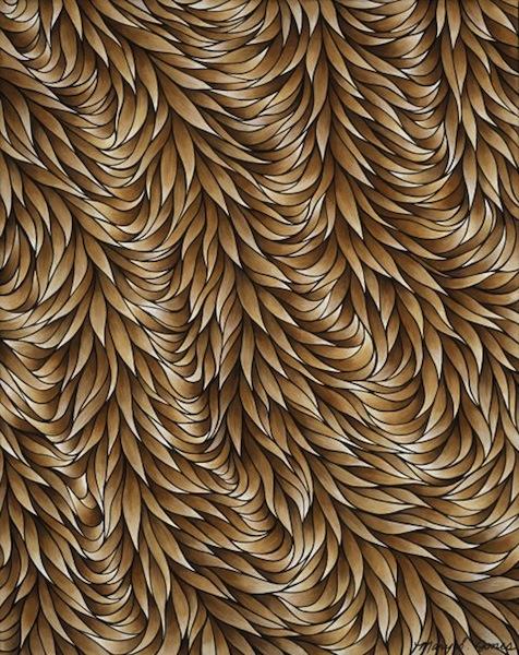 "Conformity , acrylic on canvas, 20"" x 16""  by Mary Jones Easley"