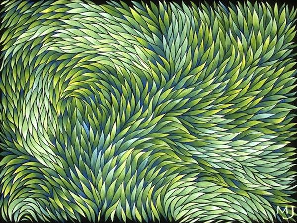 """Growth , acrylic on canvas, 18"""" x 24""""  by Mary Jones Easley"""