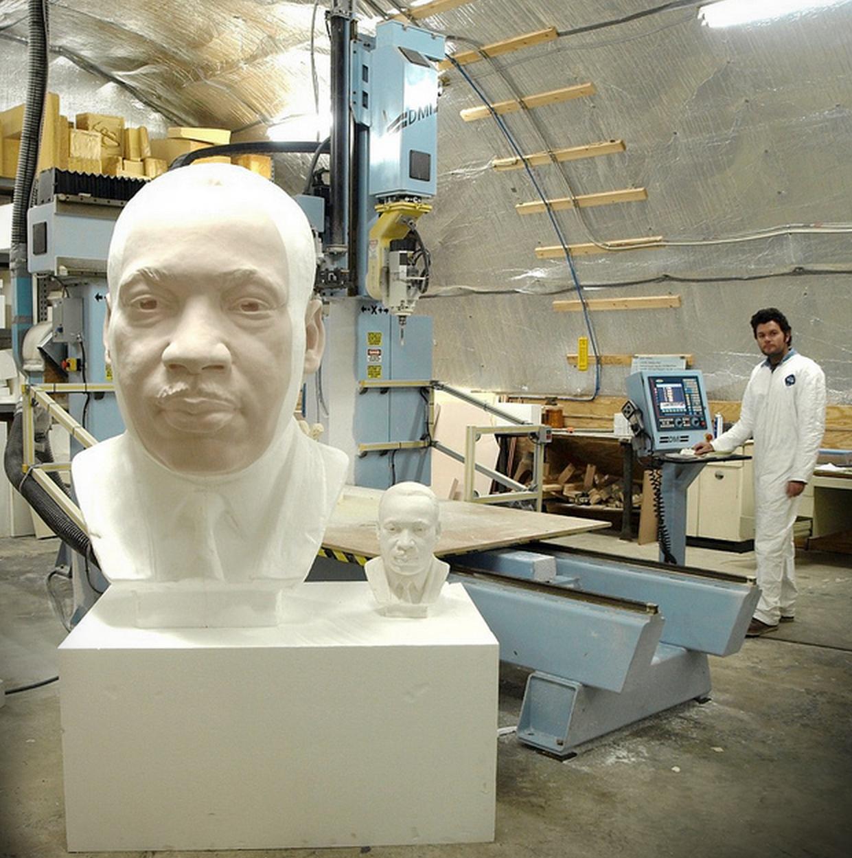 Digital foam enlargement of Martin Luther King Jr.