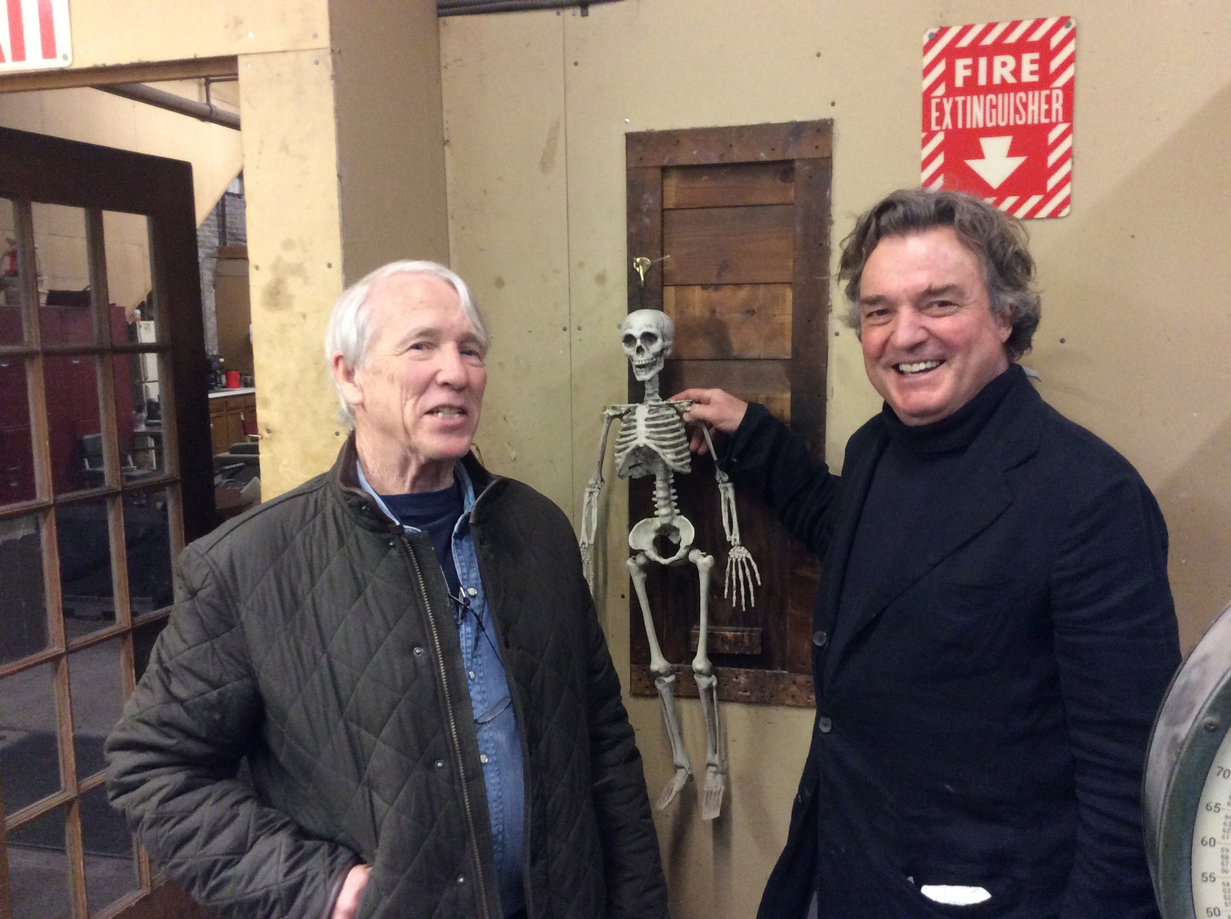 Sculptor André Harvey brought the great Jamie Wyeth by the foundry today!