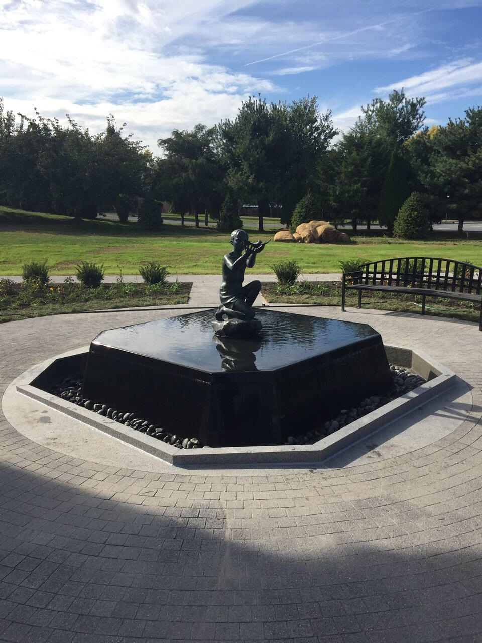 The John Herman Memorial fountain by Ray Kaskey in Frederick, Maryland.
