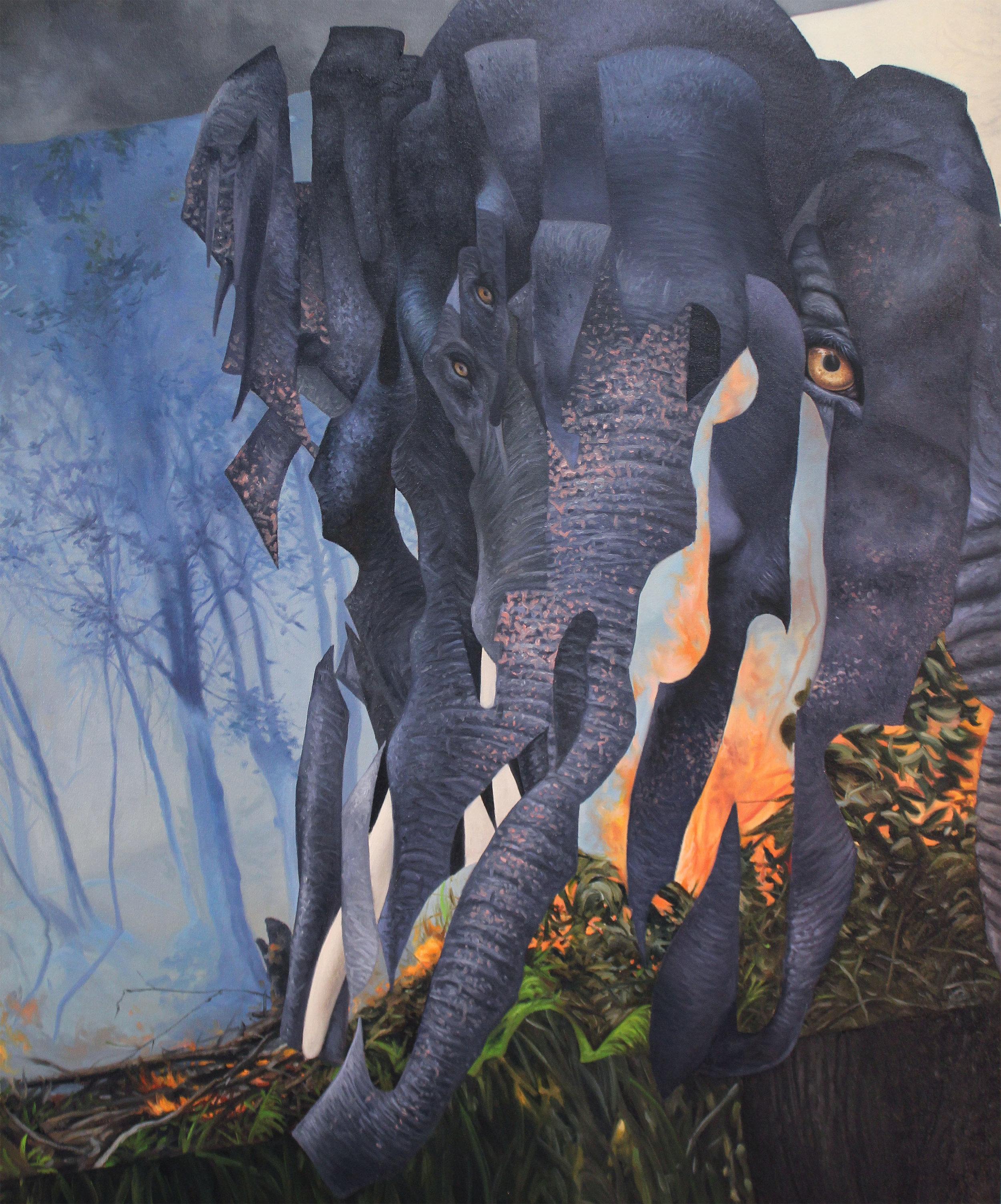 Sumatran Elephant by Angela Gram