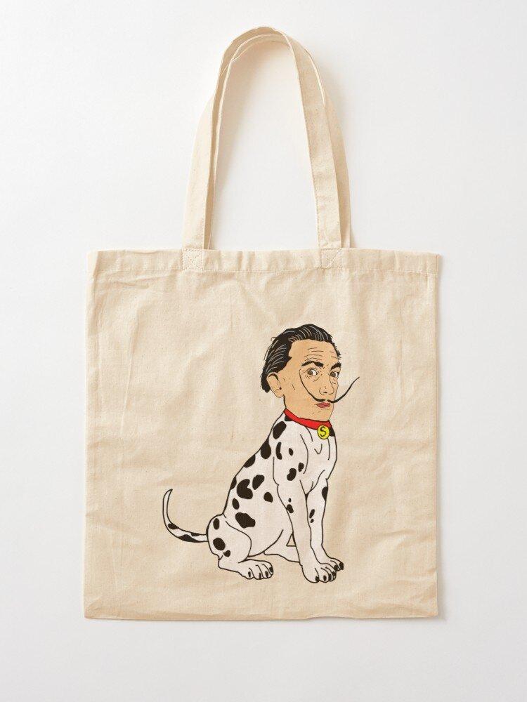 Salvador Dalmatian Tote Bag