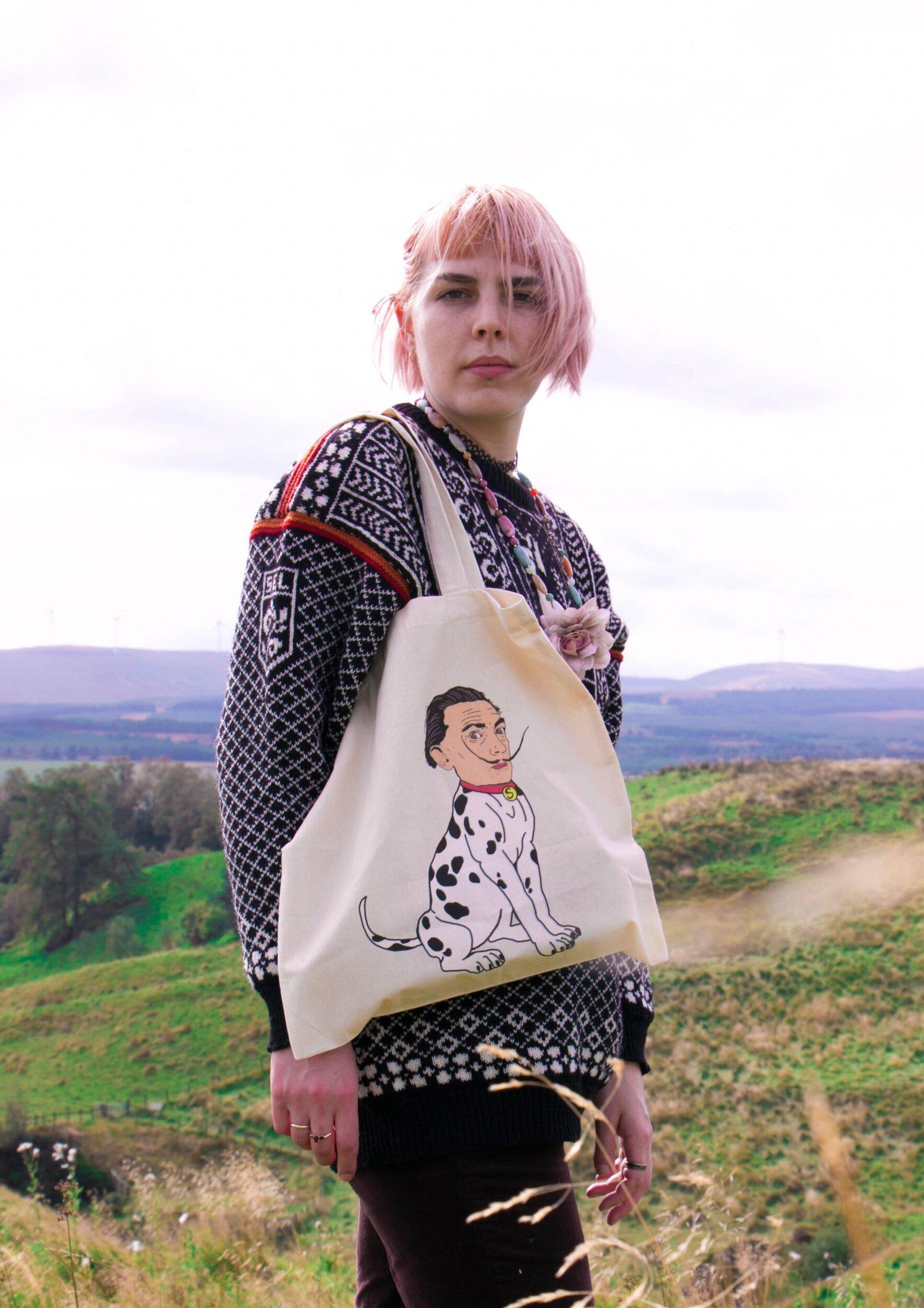 Salvador Dalmatian Tote Bag.