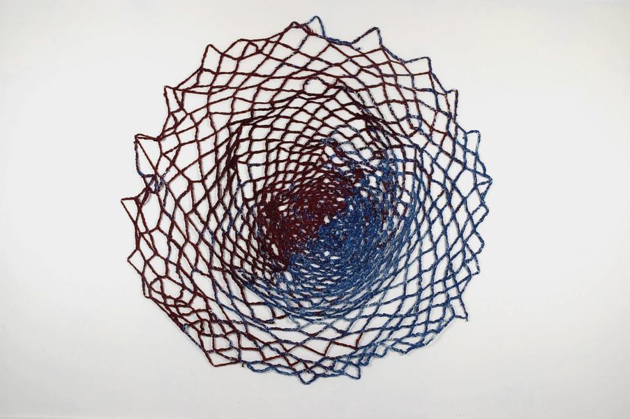 Crochet wall installation