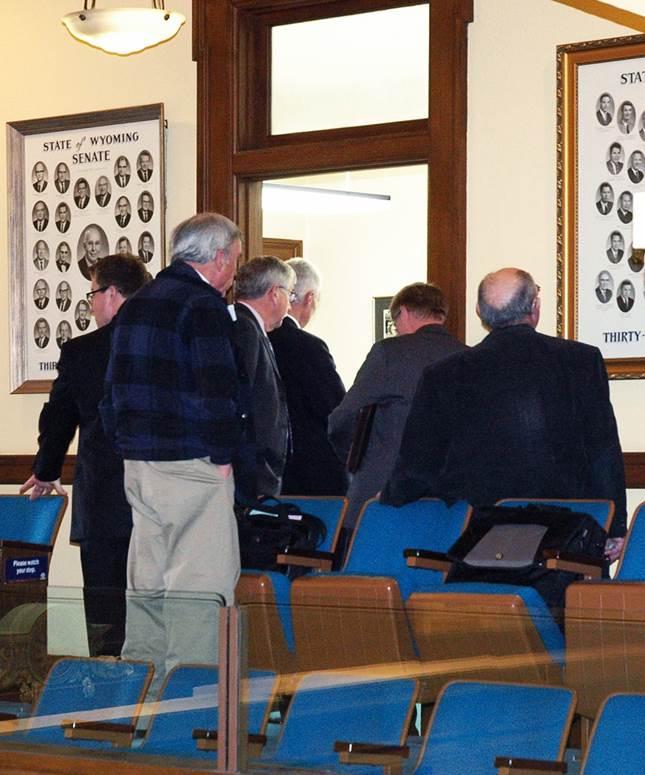Overcrowded Legislative Committee Room
