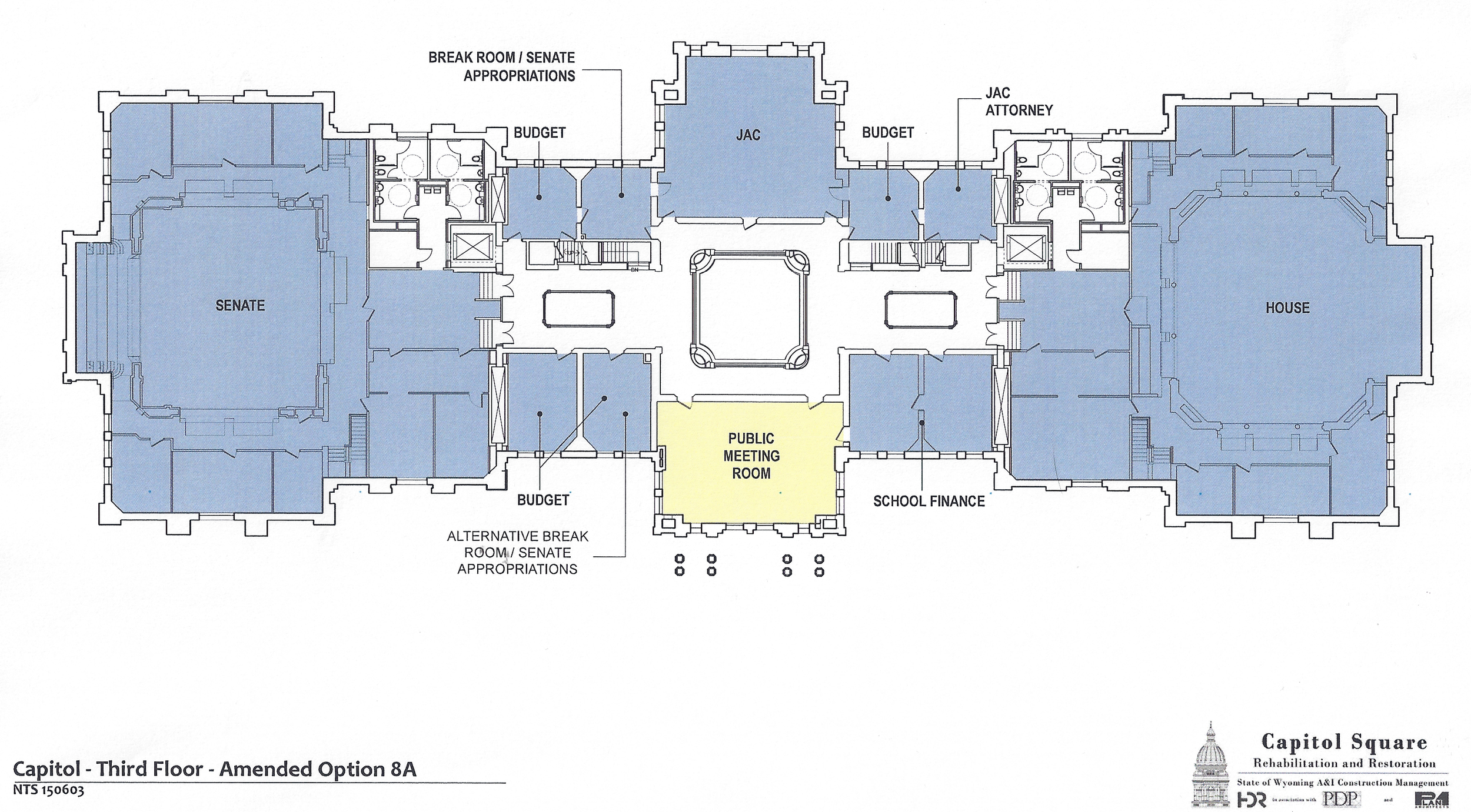 Preliminary design plans for the third floor of the Capitol as of June 2, 2015