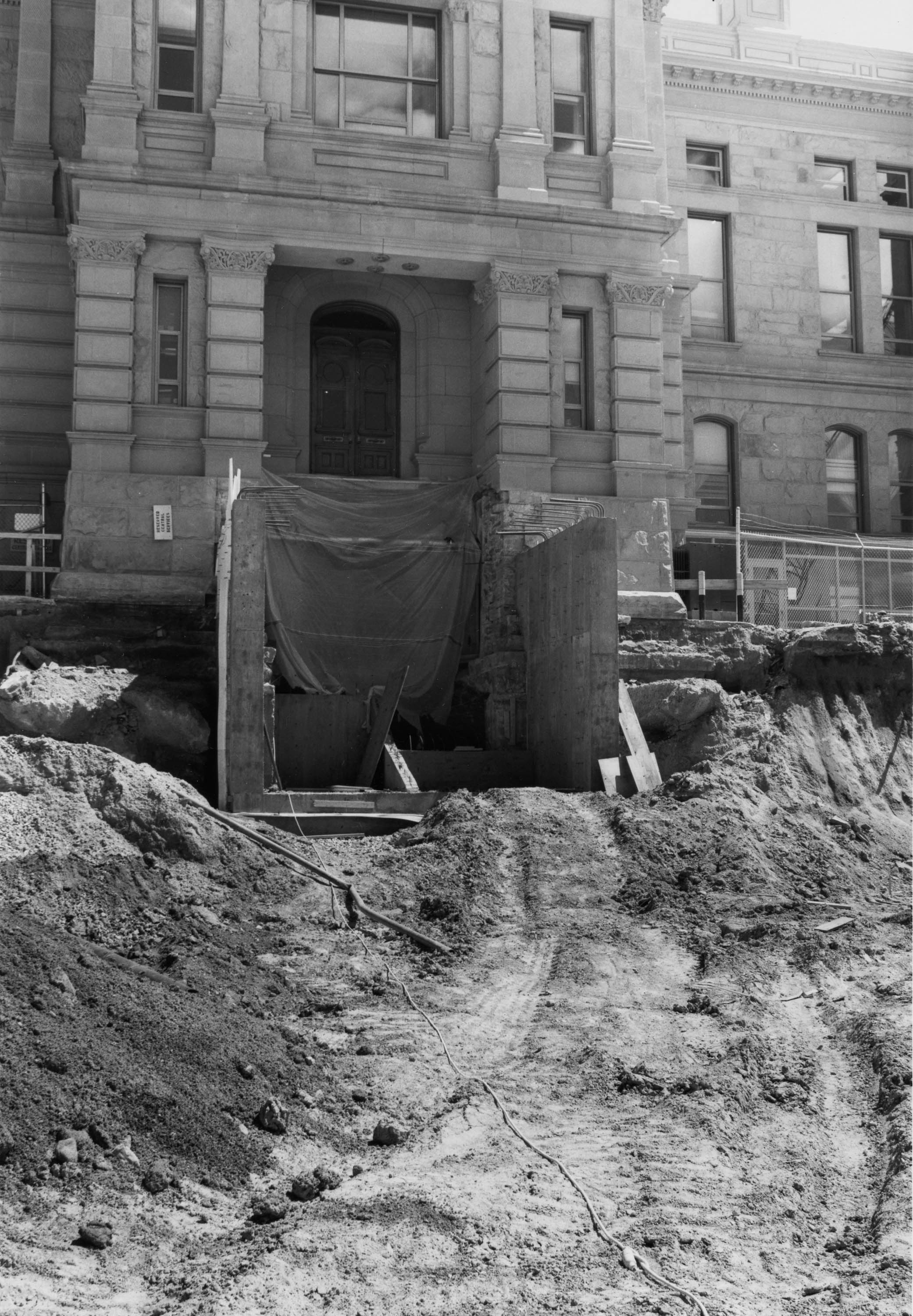 Work on Capitol Bldg steps north, 6-18-1981