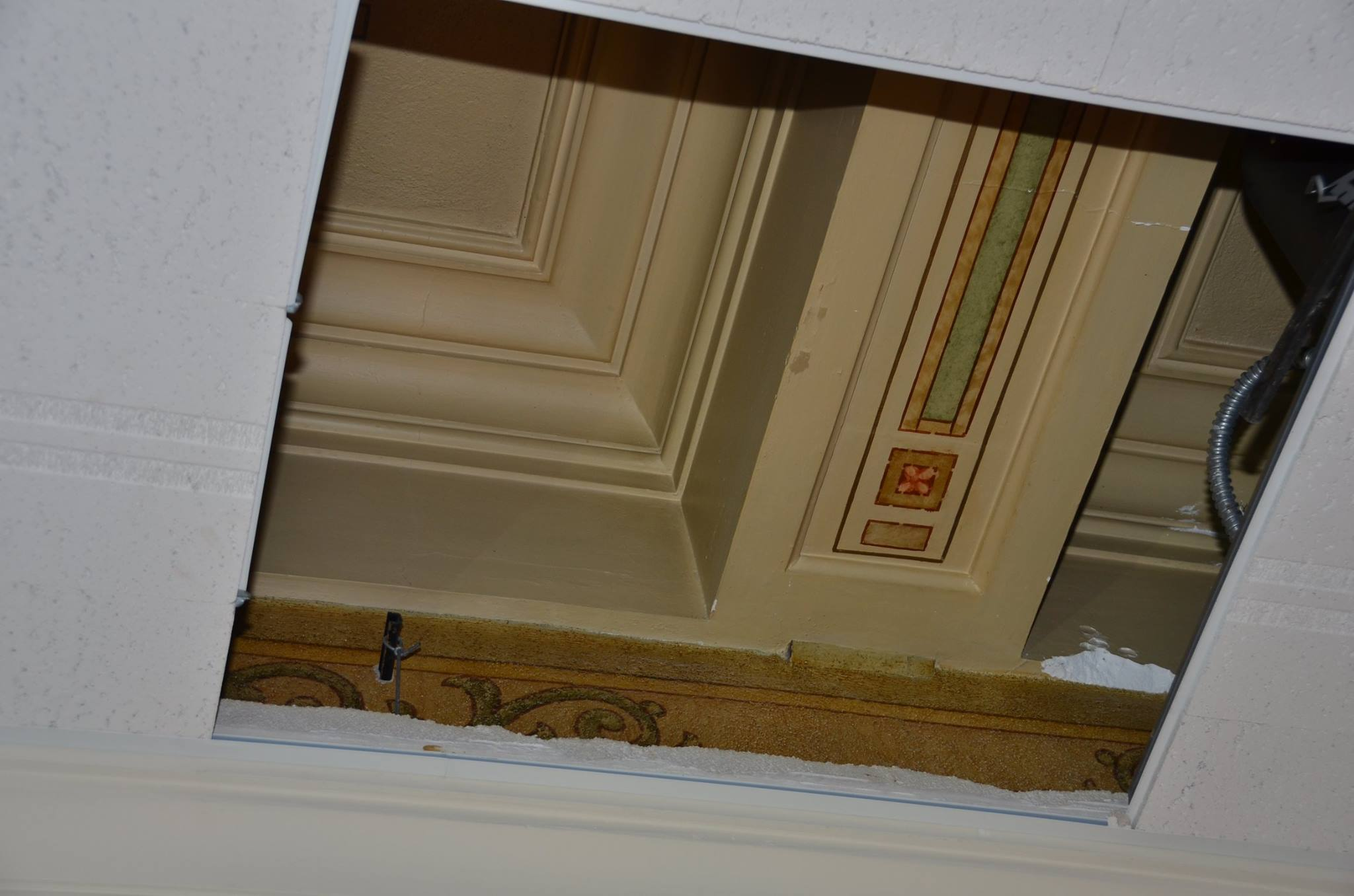 Historic Ceilings Hidden Above Suspended Ceiling Tiles