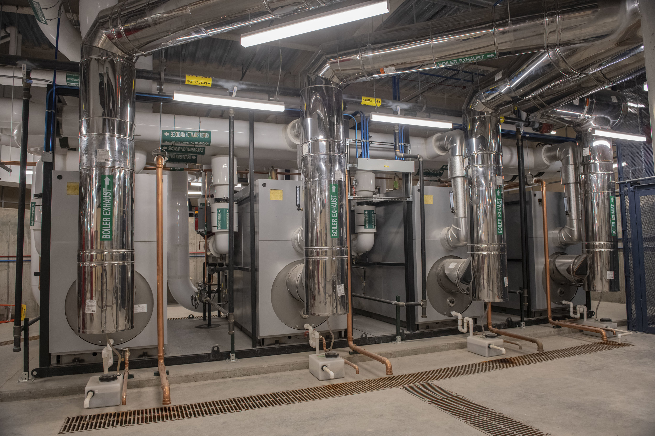 The new CUP has four boilers that feed the heating systems for the Herschler Building, the Capitol Extension, and the Capitol.