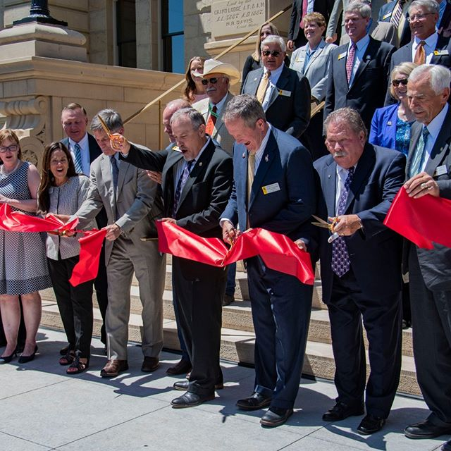 Cutting of the ribbon for the Capitol Square Project