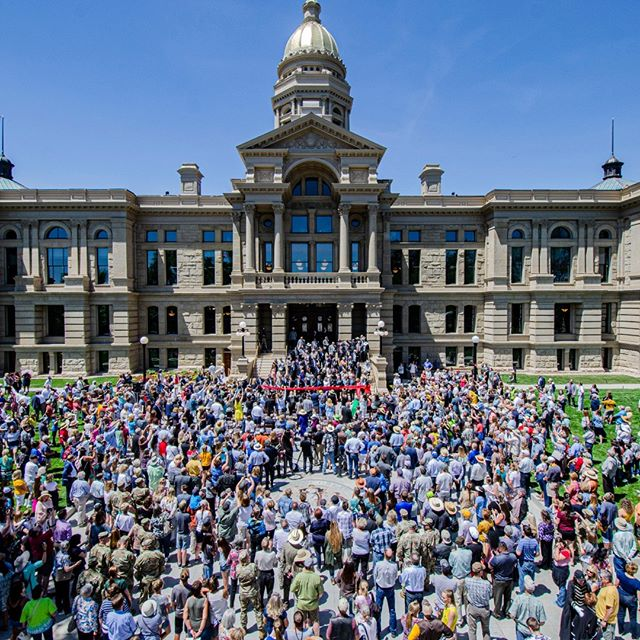 Happy birthday Wyoming! Today's ribbon cutting ceremony was spectacular!!!