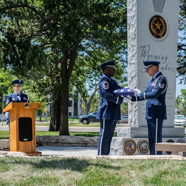 Today's Fallen Warrior Memorial Ceremony honored all Wyoming veterans who have died in service to our state and nation, and included a flag folding ceremony and playing Taps.