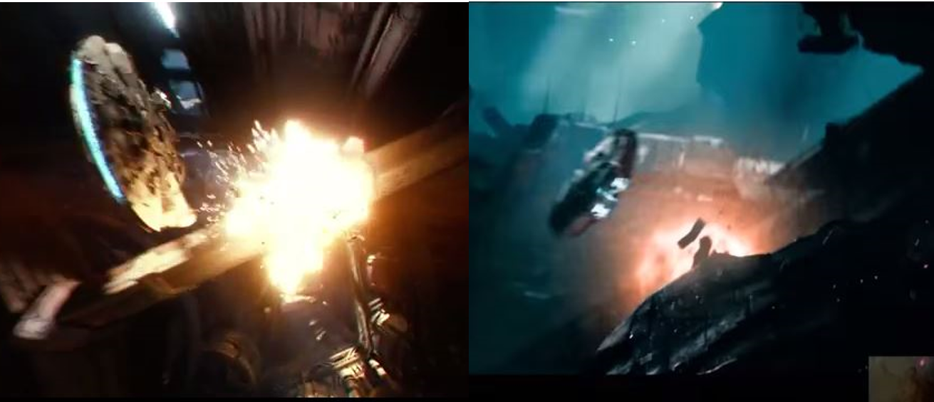 Above left: Star Wars: The Force Awakens; right: Star Trek Into Darkness