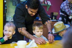 Chef Deo creates food art