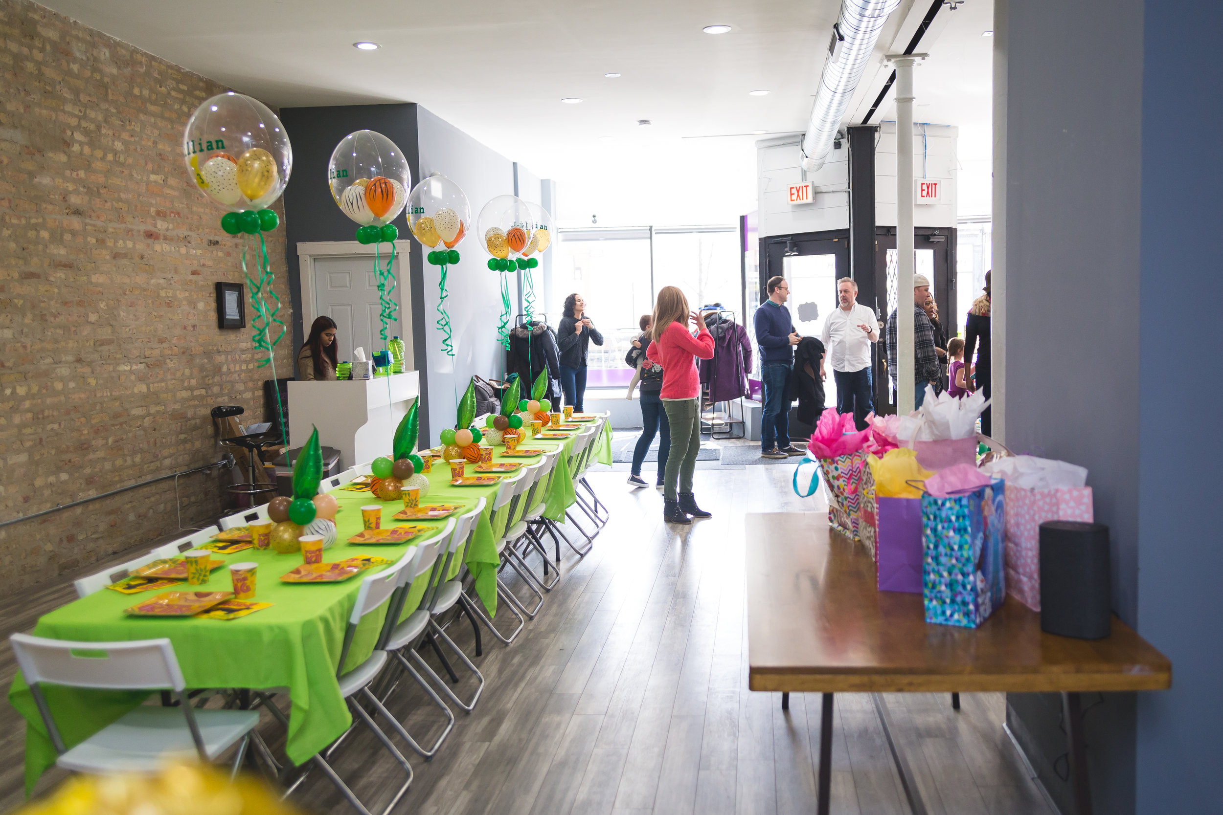 Yes! We do parties too! - Offering playroom and specialty parties for ages 1 and up!