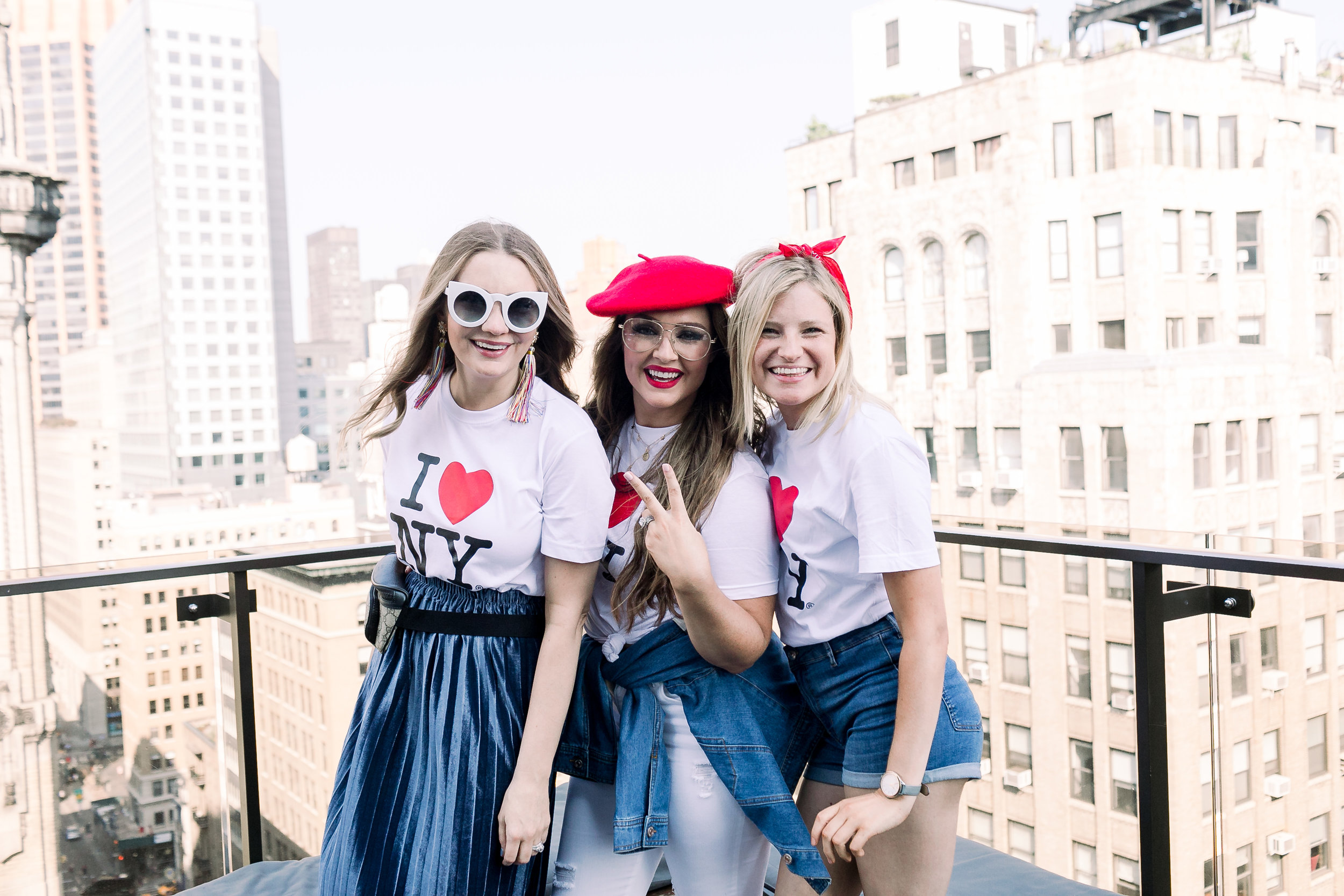 Collins Tuohy Smith and Megan Bonner and Mary Kate Steele NYC rooftop NYFW by Mary Kate Steele Photography