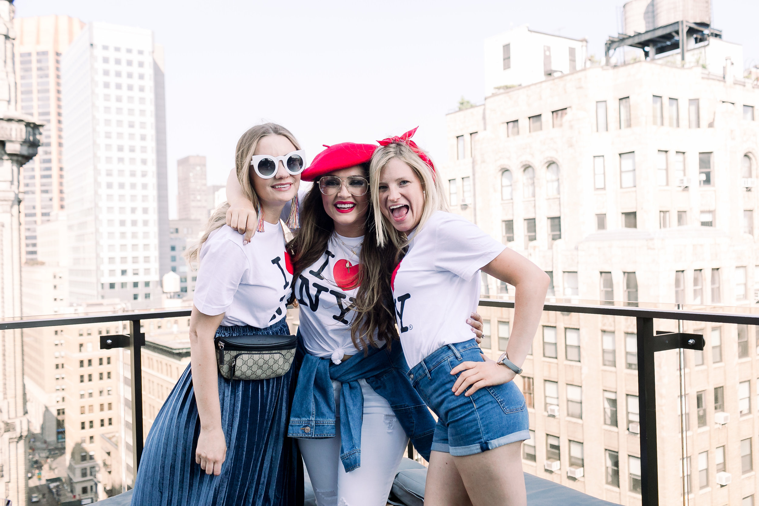 Megan Bonner and Collins Tuohy Smith rooftop in New York City for NYFW by Mary Kate Steele Photography