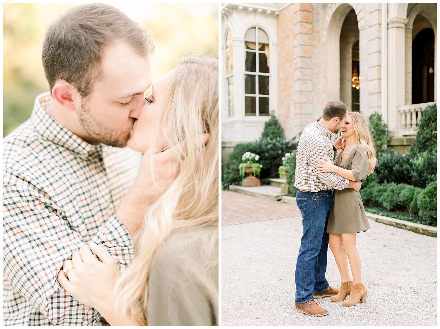 Kailan and Tyler Memphis Engagement Session at Annesdale Mansion shot by Mary Kate Steele Luxury Wedding Photographer