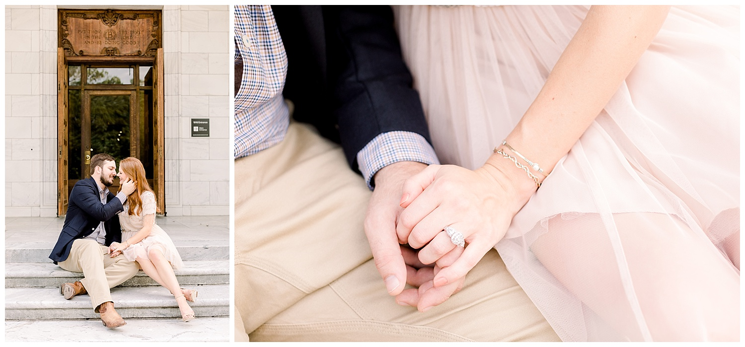 Megan and Kyle Engagement Session at the Brooks Museum shot by Mary Kate Steele Photography Luxury Wedding Photographer
