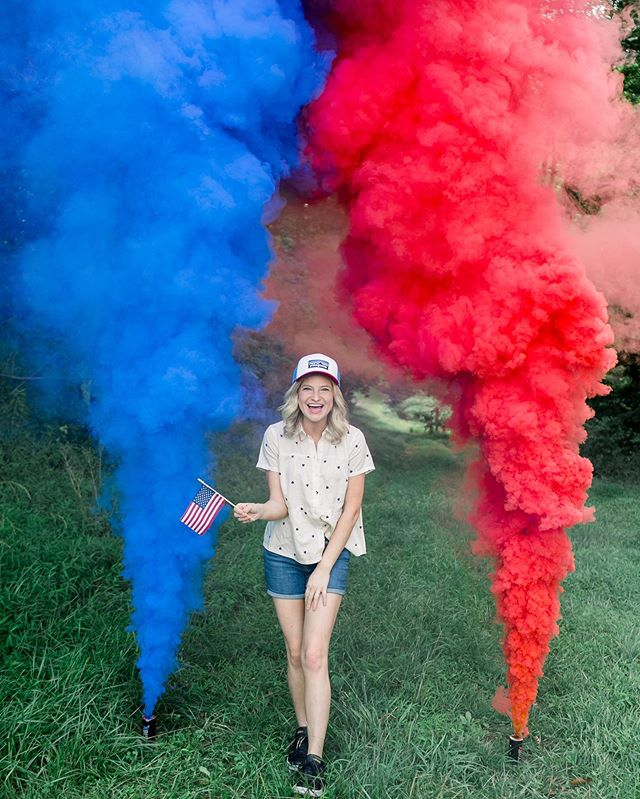 Happy Birthday America! Land of the free, Home of the brave. We are blessed to be in this great country, y'all. Celebrate proudly, today. (Ps: I love having a reason to use smoke grenades). Haha! 🇺🇸 This small town girl can't wait to take Mark to experience all the wonderful small town 4th of July Lititz celebrations next year! It is one of a kind. Just google it.😉 🎆 What are your 4th of July traditions?