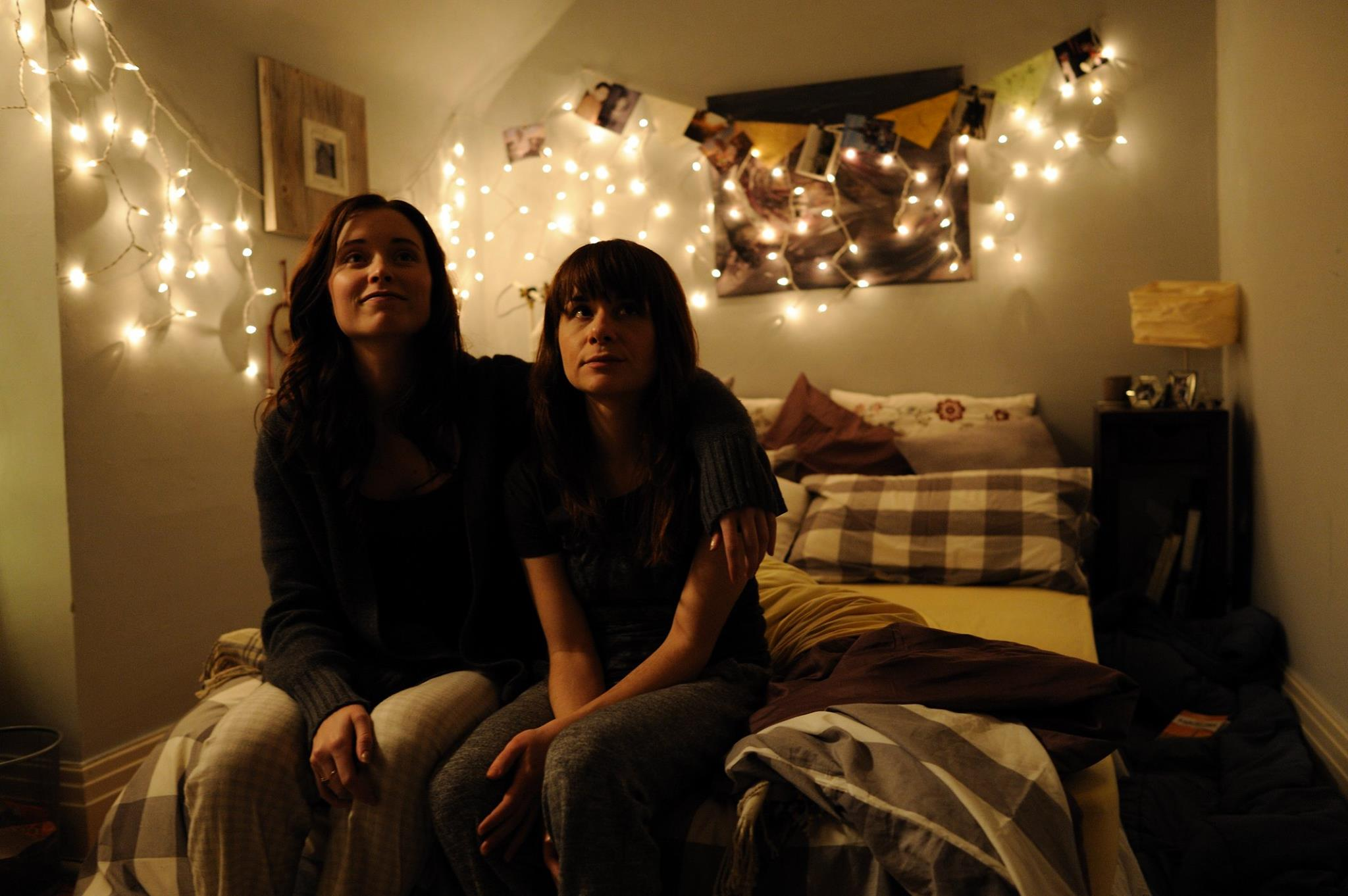 Camera test on the set of Frozen Marbles. Pictured (L-R) are stars Hannah Anderson and Jessica Rose.