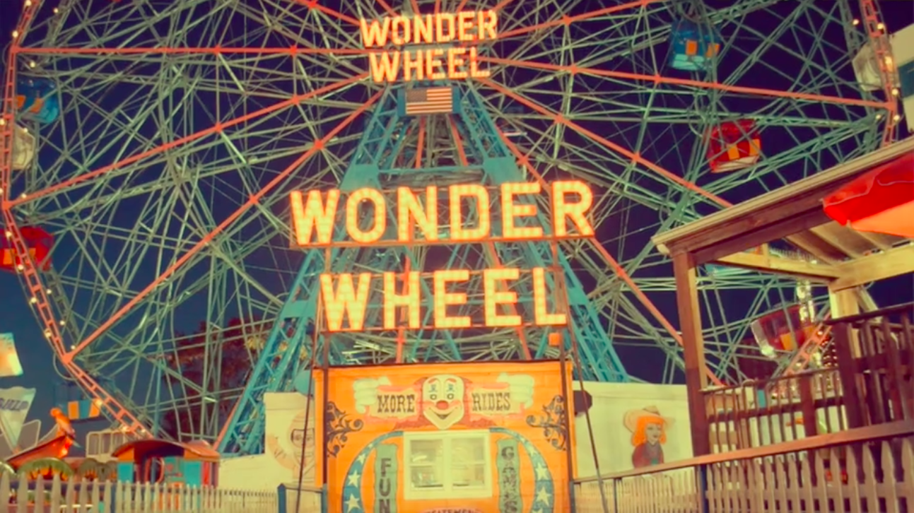 'Wonder Wheel' at Coney Island. Symbolizing a relationship built on broken trust-- one that makes you have to wonder