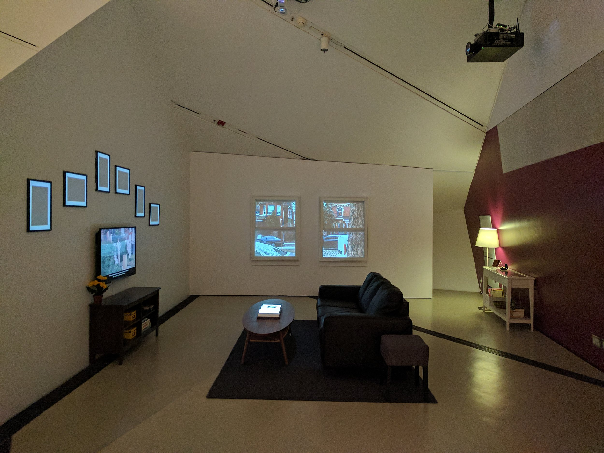 Installation view of  The Living Room , an immersive installation by OCADU Digital Futures students, Created for  The Family Camera  (2017)