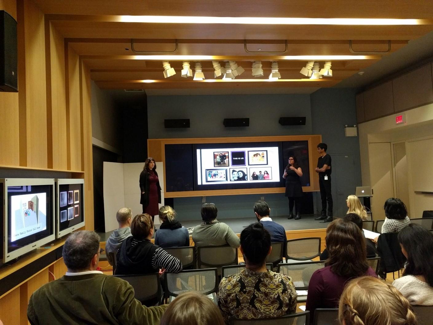 OCADU Digital Futures Student presentations at ROM (J. Orpana, 2016)
