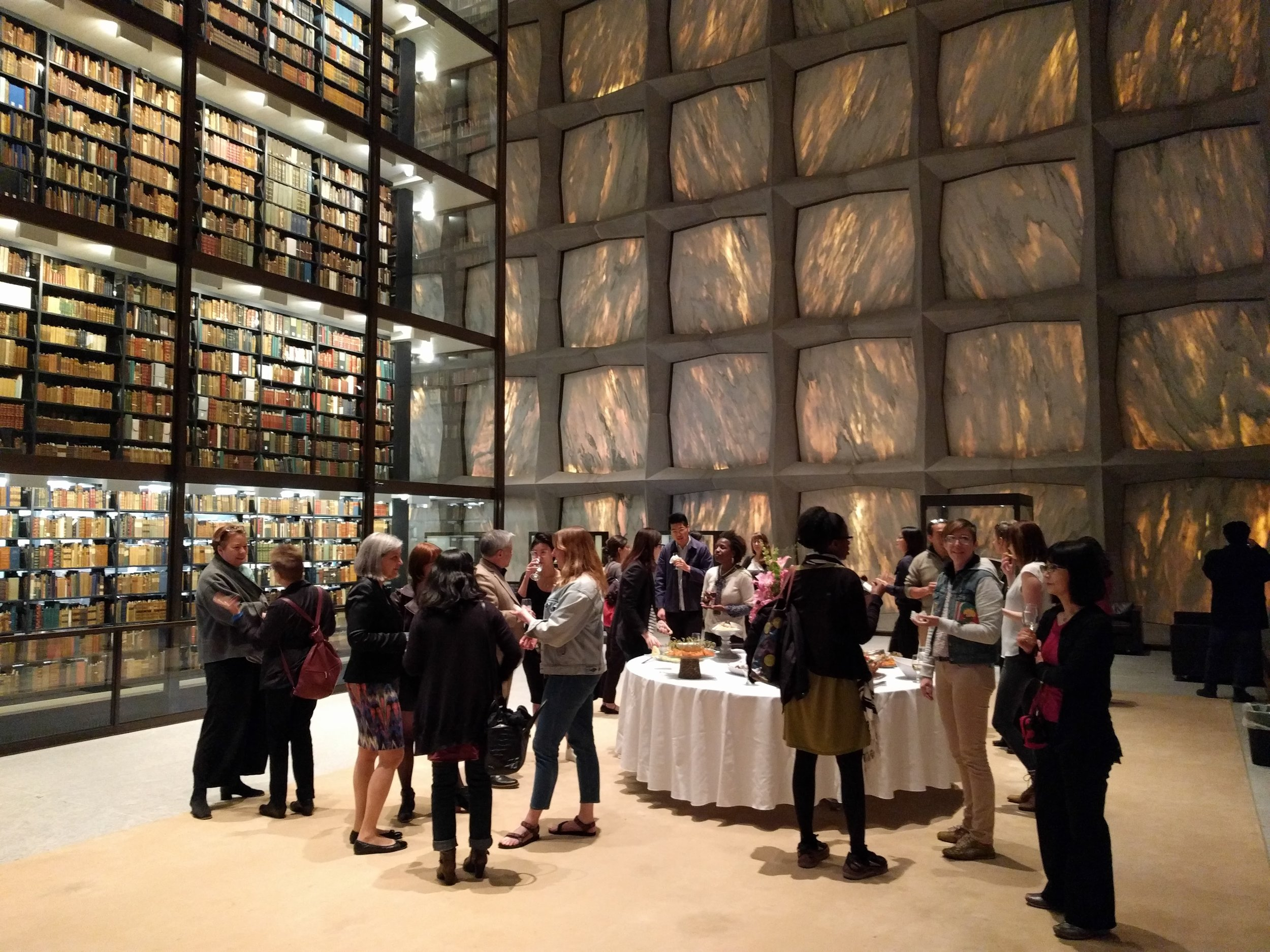 Reception at the Beinecke Rare Book & Manuscripts Library, Yale University (J. Orpana, 2017)