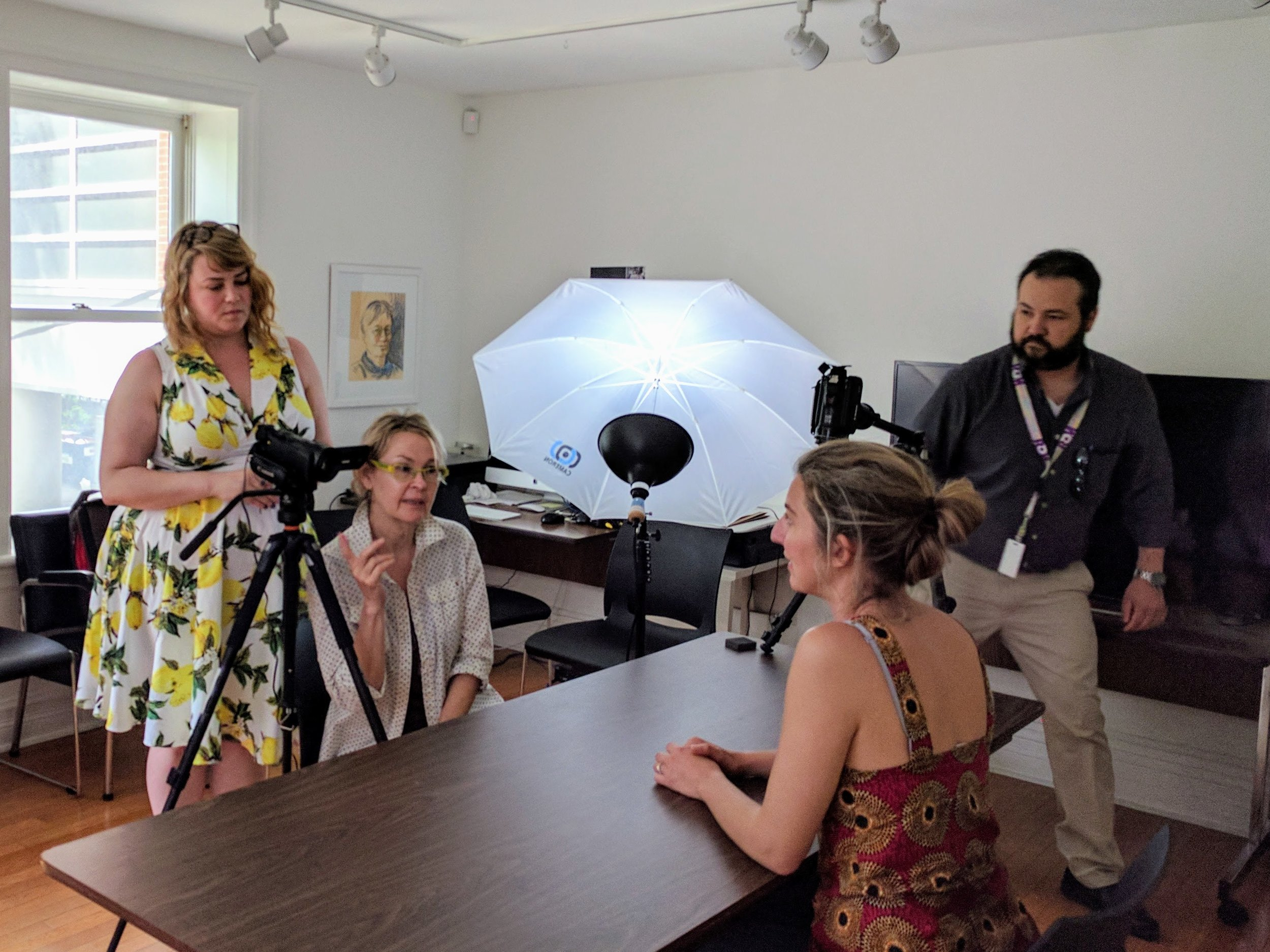 Videography Workshop at the Canadian Lesbian and Gay Archives (J. Orpana, 2017)