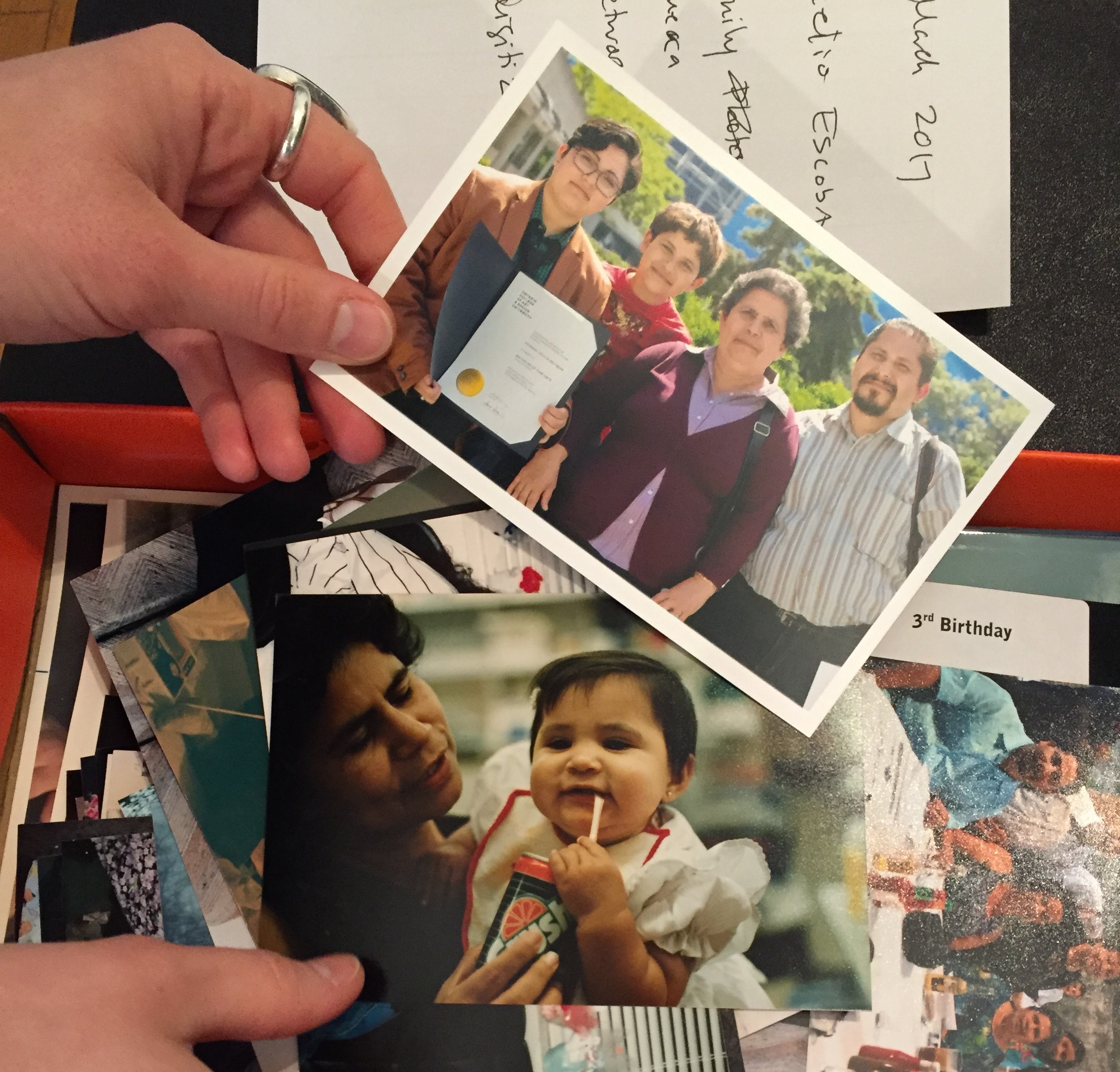 Photographs collected by The Family Camera Network at the CLGA (C. Barreto, 2017)