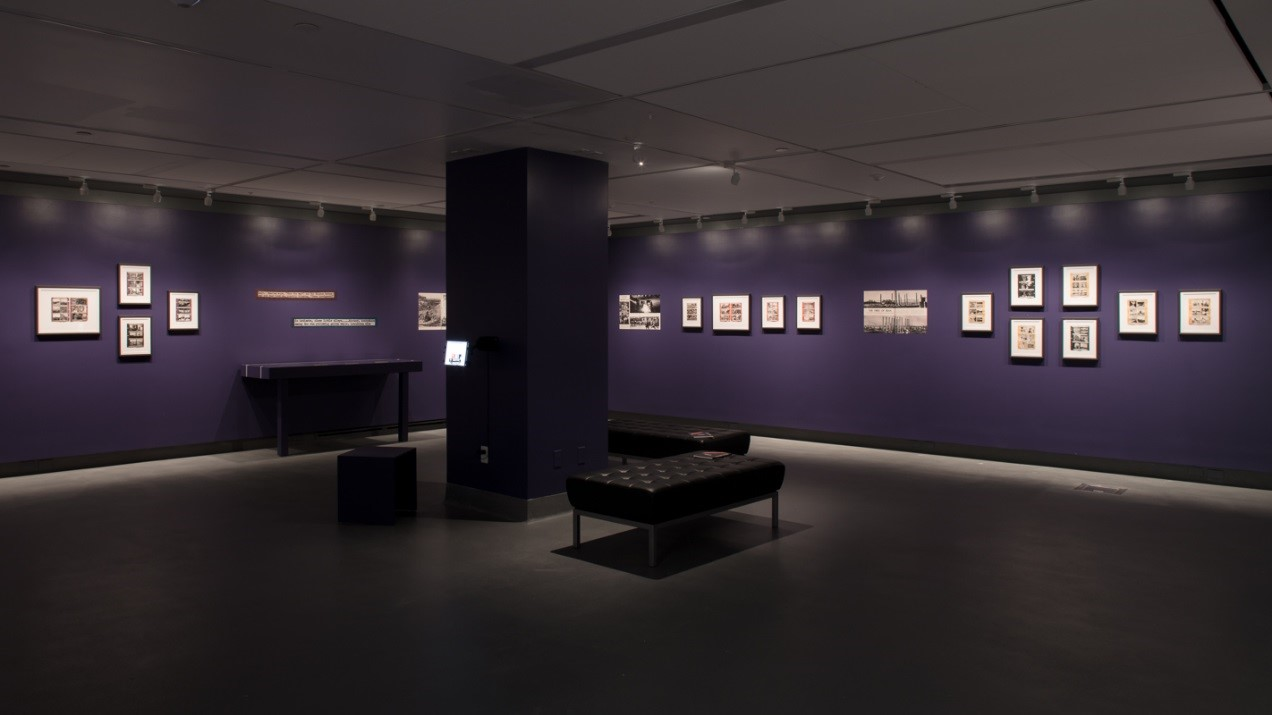 "Installation view from the ""Soon we were en route again"" exhibition (Photo by: James Morley, 2018)"