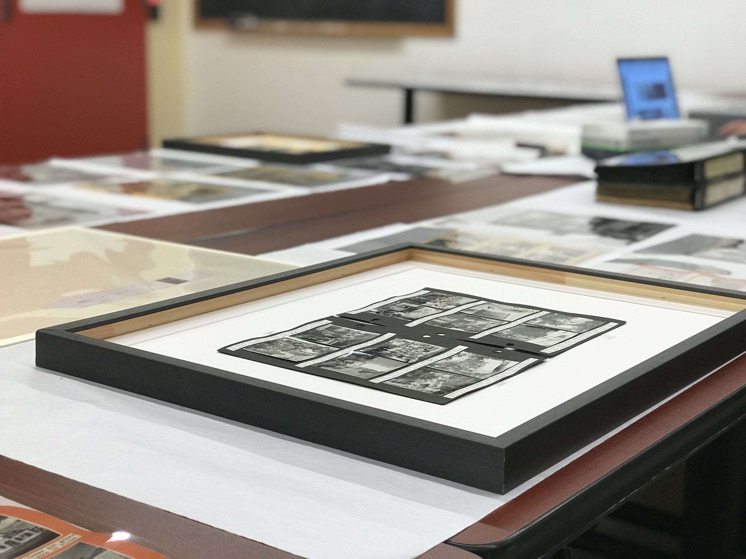 Corry albums set up for students at the ROM (Photo: Idit Kohan-Harpaz, 2017)