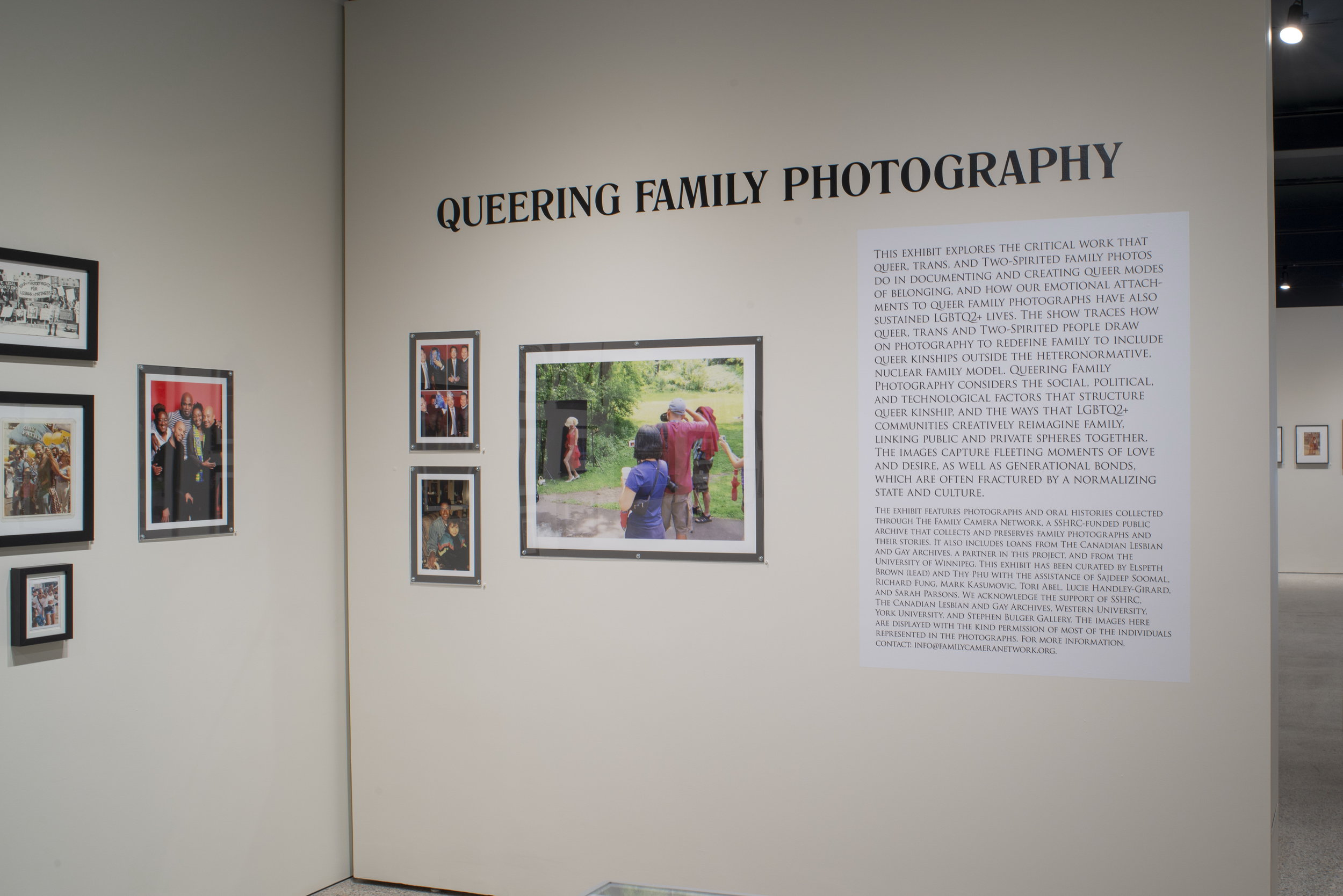 Installation of  Queering Family Photography  at Stephen Bulger Gallery. Photo: © Scott Poborsa / Courtesy of Stephen Bulger Gallery, 2018.