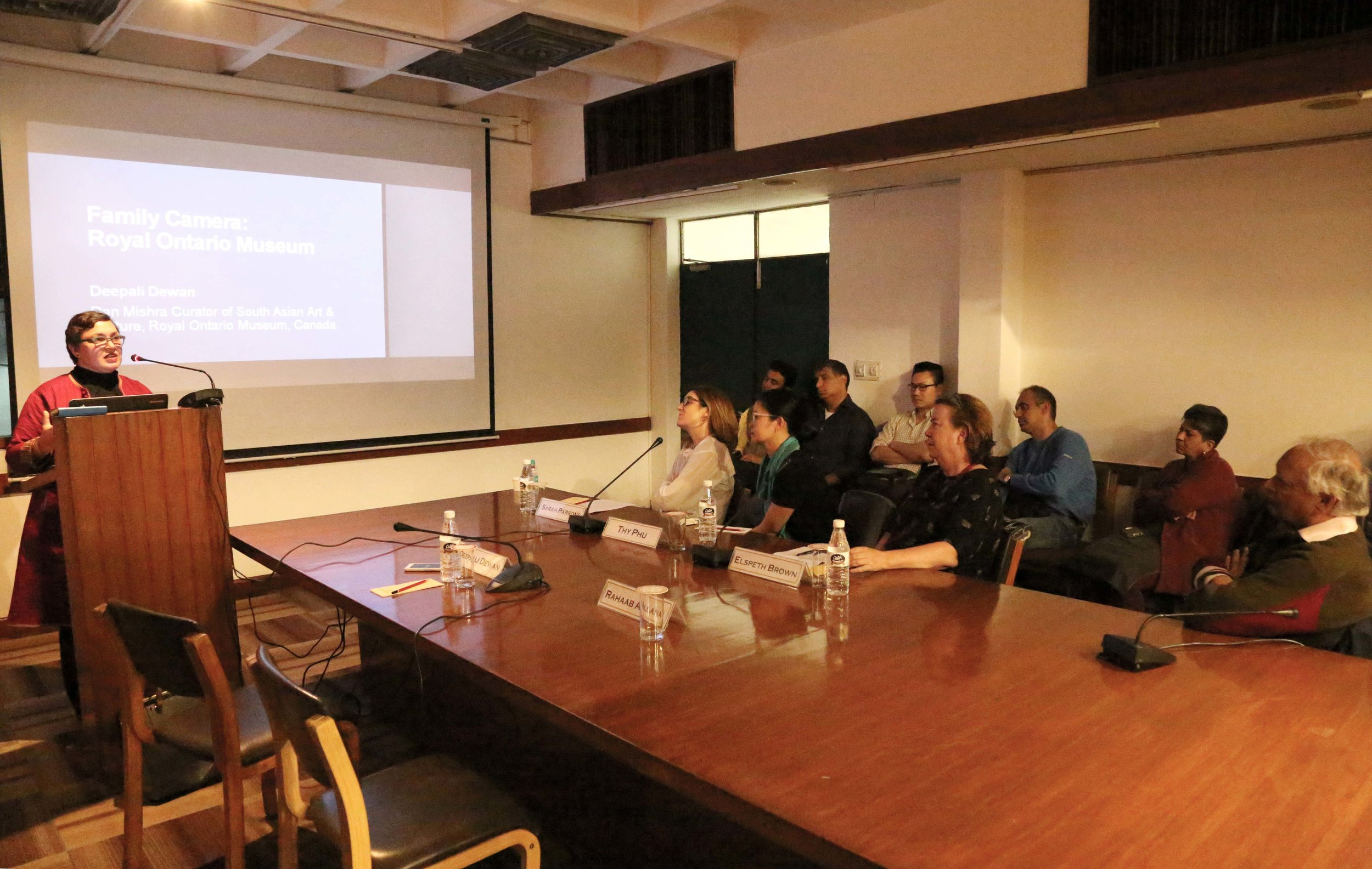 Deepali Dewan presenting at IIC (Photo: Alkazi Photographic Archives, 2019).