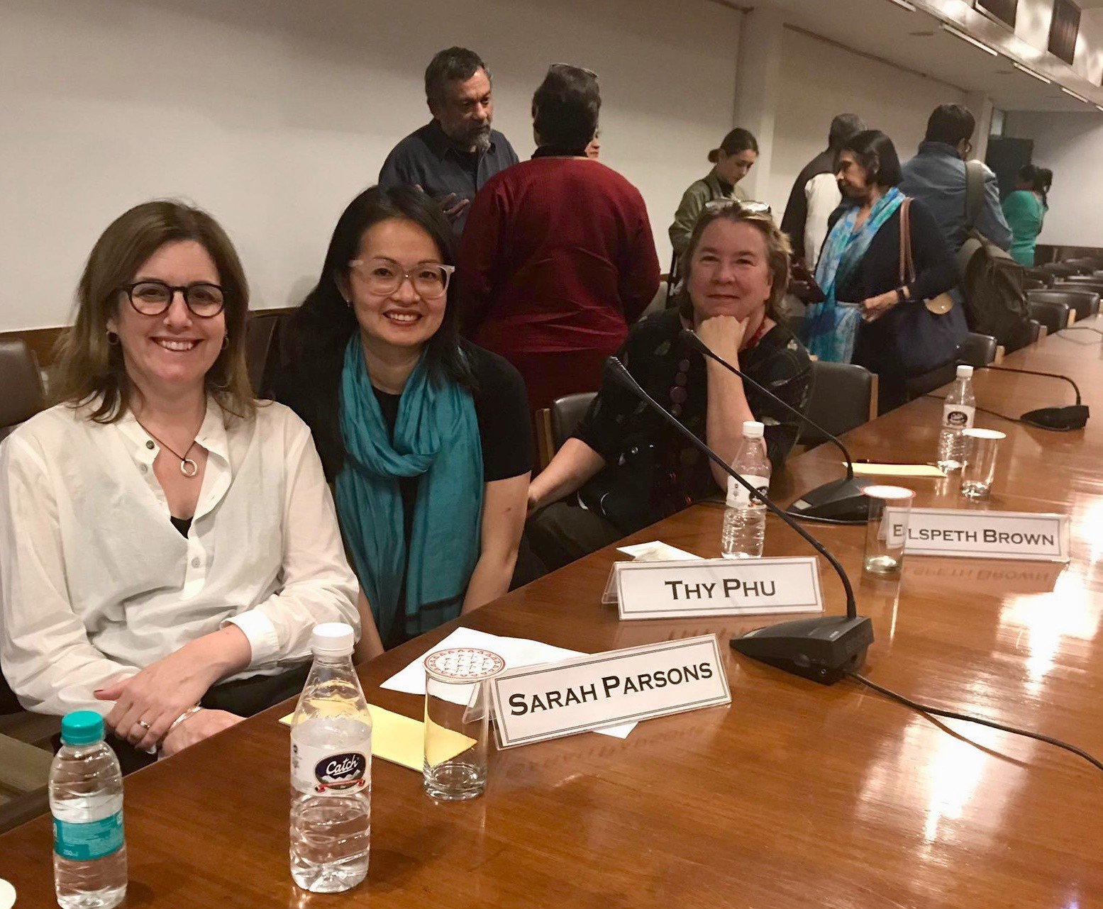 Sarah Parsons, Thy Phu and Elspeth Brown at IIC event (Photo: Michael Tang, 2019).
