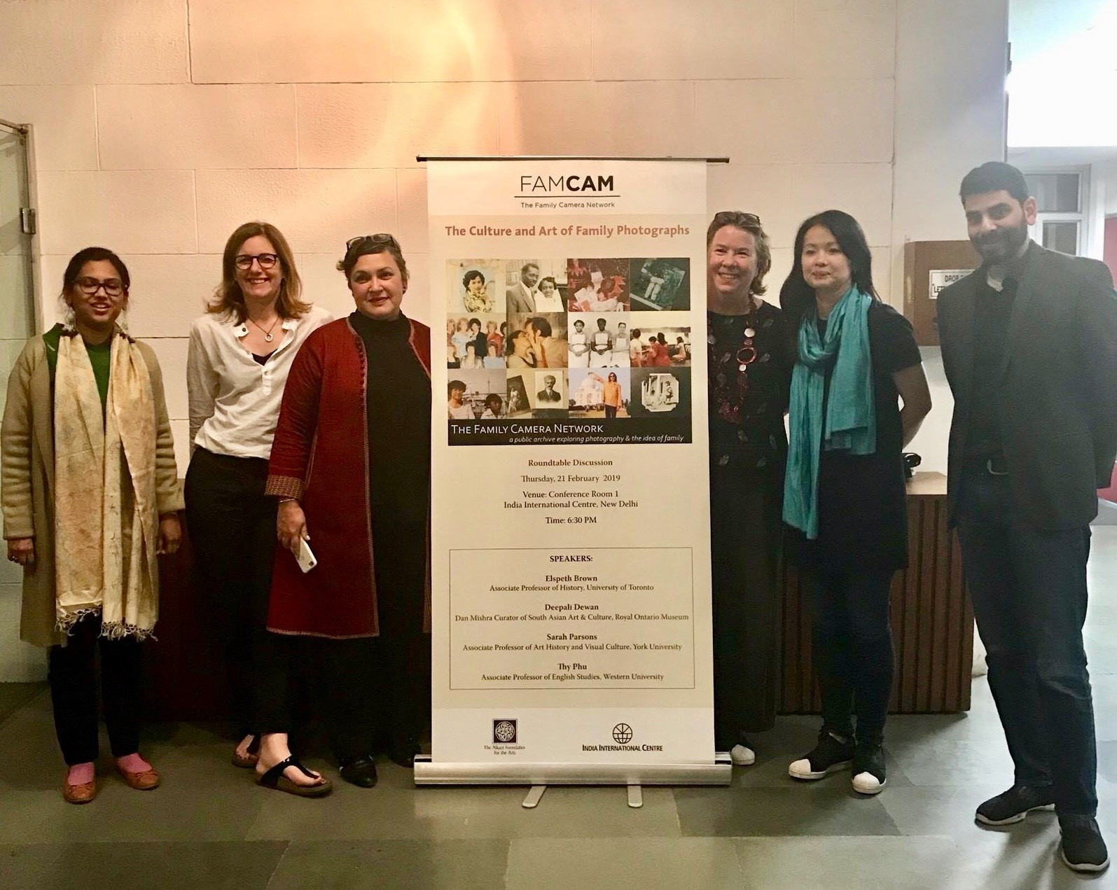 Group photograph with event signage at IIC (Photo: Michael Tang, 2019).