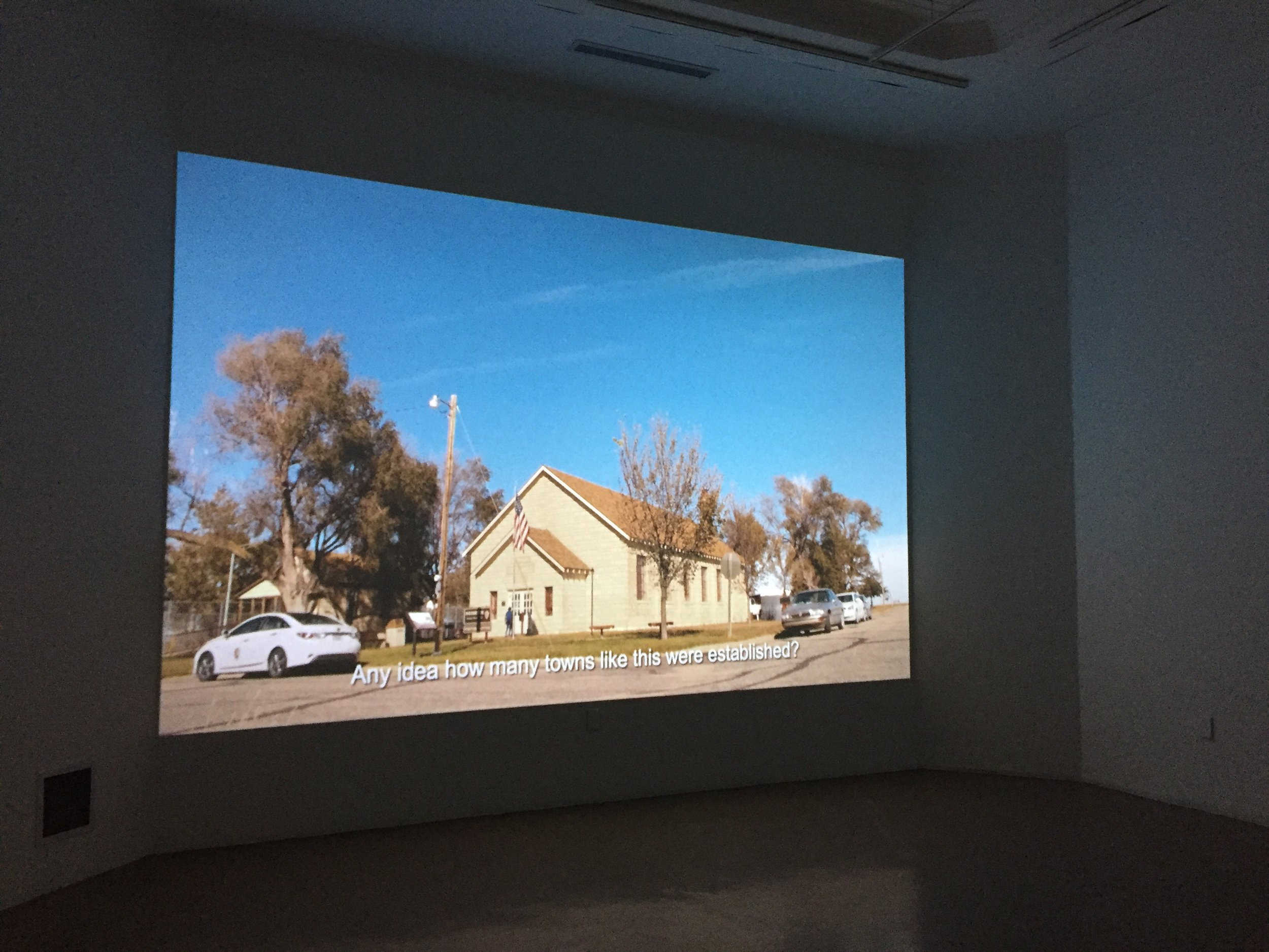 Deanna Bowen,  We Are From Nicodemus  (2017) ,  Installation View (S. Bassnett, 2019)