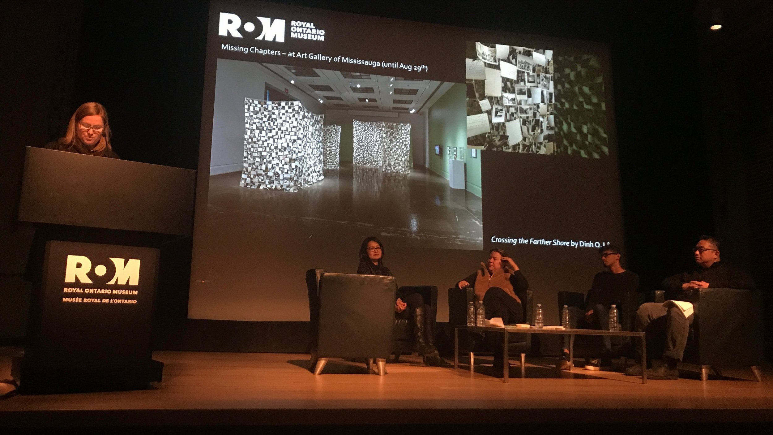 The Family Camera: Missing Chapters revisited Panel - Jennifer Orpana, Thy Phu, Elspeth Brown, Mudit Ganguly, and Hon Lu - at the ROM (D. Dewan, 2017)