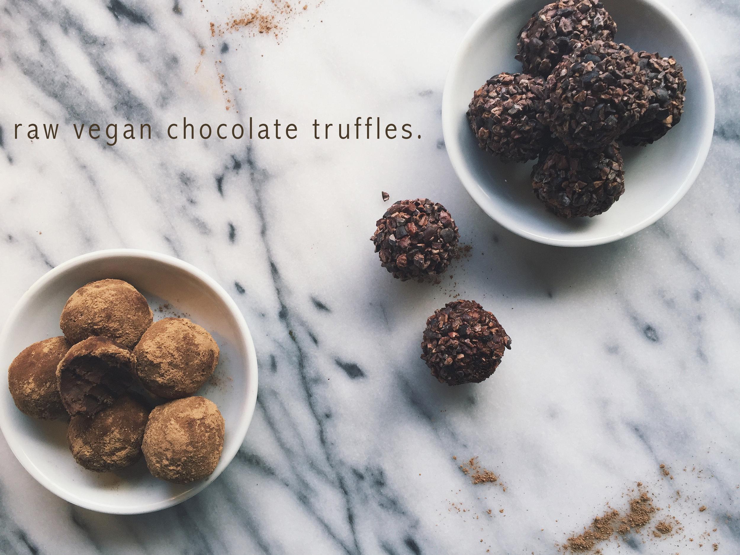 Raw Vegan Chocolate Truffles | All Purpose Flour Child