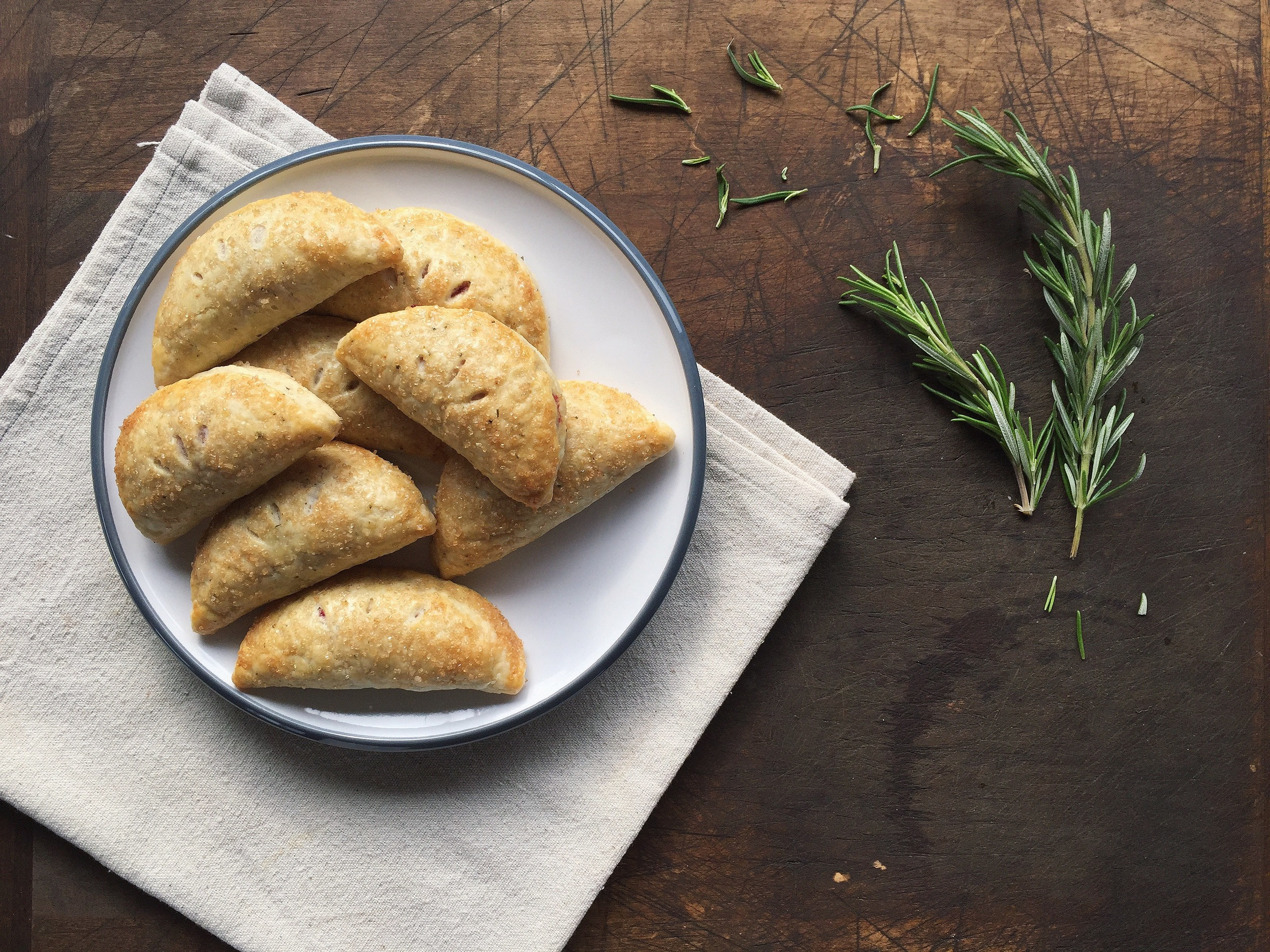 Cranberry Orange + Rosemary Hand Pies | All Purpose Flour Child